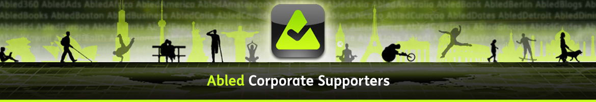 Abled Corporate Supporters banner