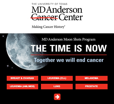 Abled Public Service Ad for the MD Anderson Cancer Center Moon Shots Program to end cancer which is targeting 6 types of cancer. CLick here to learn more about the program