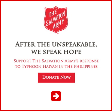 Abled Public Service Ad for the Salvation Army Typhoon Relief Fund. Click here to make a donation.