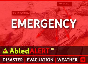 AbledAlert-Emergency linkbox. Click here to go to the AbledAlert Emergency Main Page.