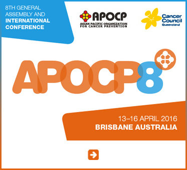 Abled Public Service Ad for the 8th General Assembly and International Conference for the Asian Pacific Organization for Cancer Prevention scheduled for April 13-16 2016 in Brisbane Australia. Click here to go to their website.