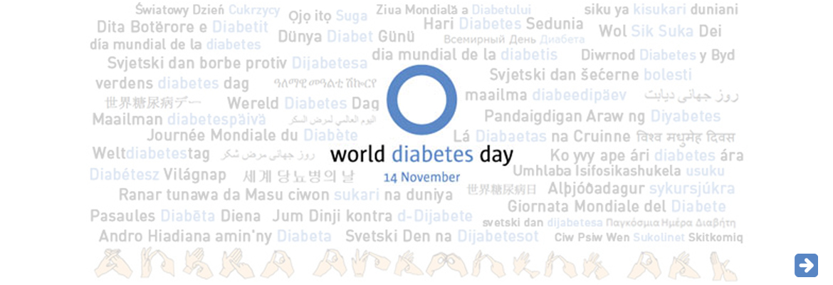 AbledEvents Public Service Ad for Worlf Diabetes Day, 14 November, 2014. Click here to go to the International Diabetes Federation website for the event.