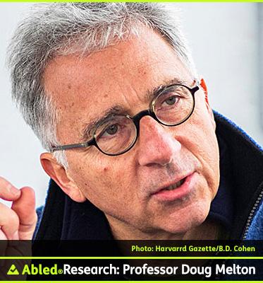 AbledResearch photo shows Harvard's Xander University Professor Doug Melton whose team has announced a major breakthrough in Diabetes Research.