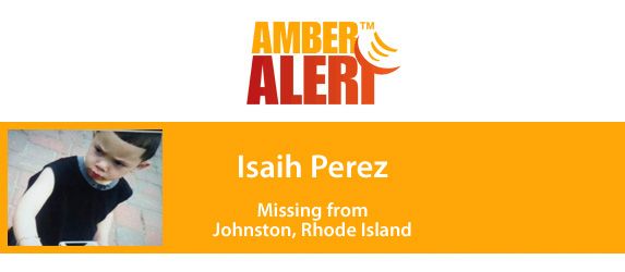 Amber Alert graphic for Isaih Perez