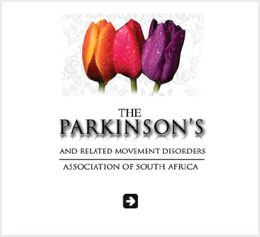 Abled Public Service Ad link to The Parkinson's and Related Movement Disorders Association of South Africa which shows an orange, yellow and purple tulips above the text of the logo.