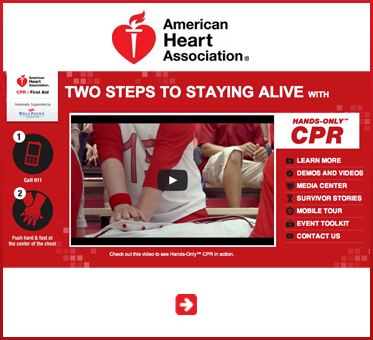 Abled Public Service Ad link banner for the American Heart Association and their Two Steps To Staying Alive with Hands-Only CPR. CLick to visit their website.