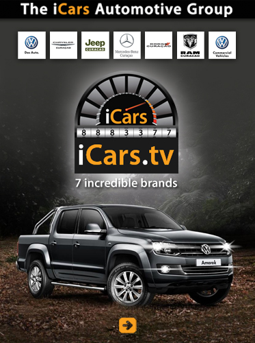 Abled Supporters Ad for the iCars Automotive Group shows a black Volkswagen Amarok double-cab pickup truck under the iCars logo and the logos of their 7 brands: Mercedes-Benz, Volkswagen, Volkswagen Commercial vehicles, Chrysler, Dodge, Jeep and RAM Trucks. Click here to visit their website.