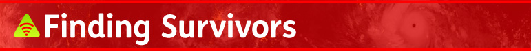 AbledALERT segment heading banner: Finding Survivors