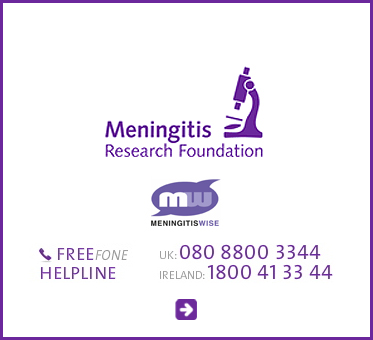 Abled Public Service Ad for the Meningitis research Foundation in the U.K. It details a free fone helpline in the U.K. - 080 88 00 33 44 and for ireland 1 800 41 33 44. Click here to go to the organization's website.