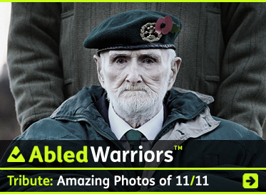 AbledWarriors link banner to Tribute: Amazing photos of 11/11 of veterans and services from around the world. Click here to go to the story.