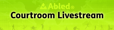 Abled Courtroom Livestream banner