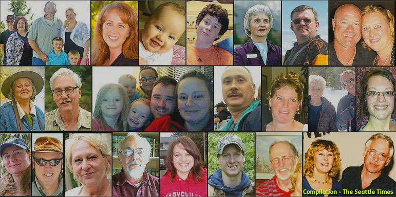 Photo montage of the Oso Mudslide Victims