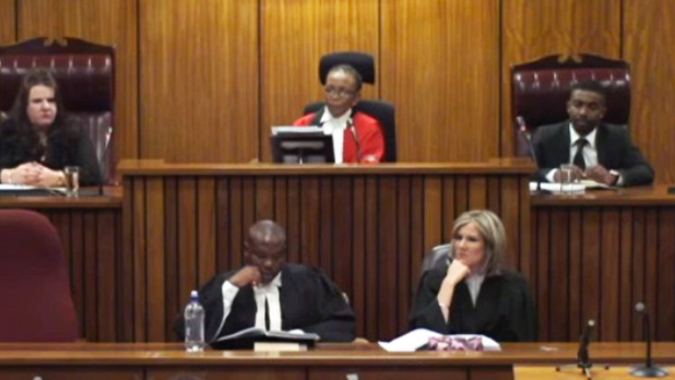 AbledNews photo of Judge Thokozile Masipa reads the verdict in the Oscar Pistorius trial.