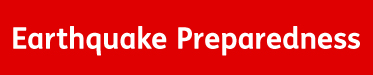 Banner: Earthquake Preparedness