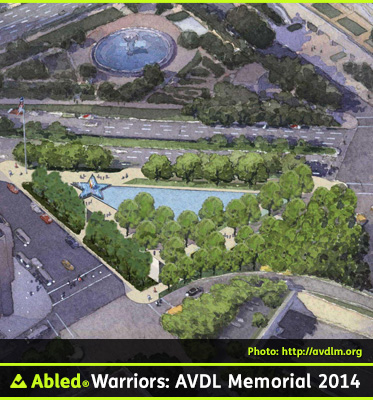 AbledWarriors Photo: Watercolor rendering of an aerial view of the American Veterans Disabled For Life Memorial