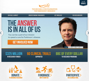 AbledPSA Link ad to The Michael J. Fox Foundation for research into Parkinson's disease