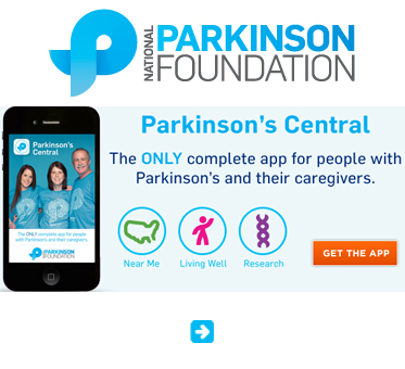 Abled Public Service Ad link to the National Parskinson's Foundation in the United States which features a ohoto of their smartphone app for persons with Parkinson's Disease.