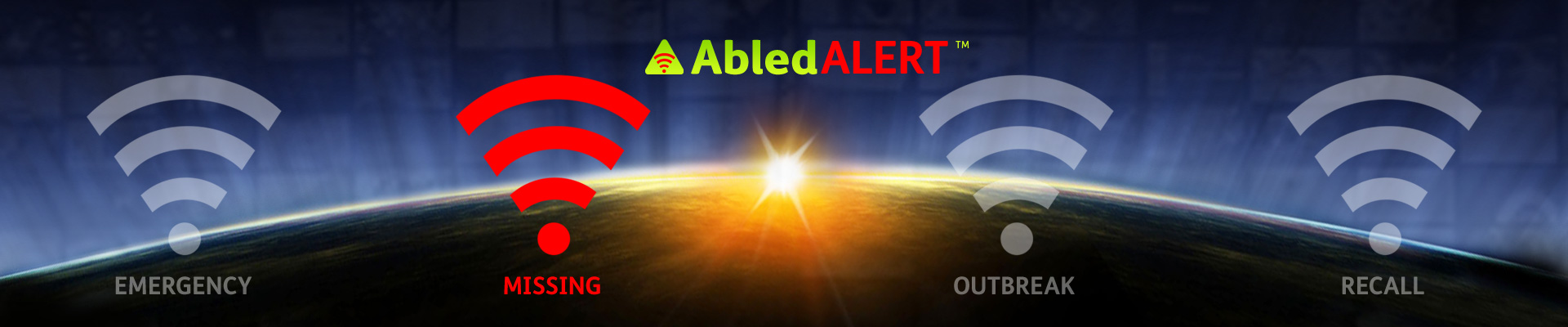 AbledALert Banner with the alert signal for Missing highlighted.