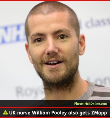 AbledALERT photo shows UK nurse William Pooley recovered after being treated with the drug Zmapp after contracting Ebola while volunteering in Africa.