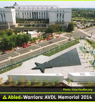 AbledWarriors Photo: Aerial view of the American Veterans Disabled For Life Memorial