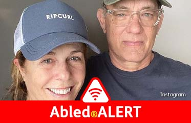 Abled.ALERT: Actors Tom Hanks and his wife Rita Wilson wearing curved caps post a selfie to Instagram.
