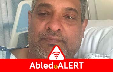 Abled.ALERT: Selfie tweeted by Top Chef Master Floyd Cardoz from his hospital bed.