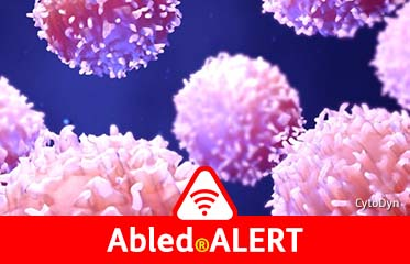 Abled.ALERT: mages of white blood cells adapted from an electron microscope that look like ping pong balls covered in shredded coconut.