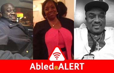Abled.ALERT: Photo montage of three New York Police Department employees who've died of COVID-19 disease.
