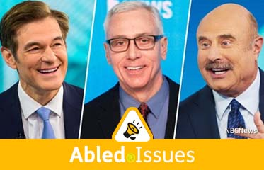 Abled.Issues: Composite photo of Dr. Mehmet Oz, Dr. Drew Pinsky, and Dr. Phil McGraw.