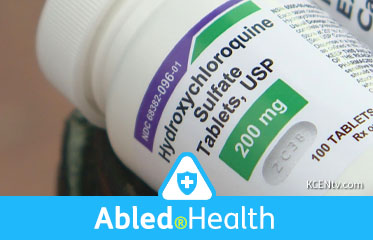 Abled.Health: Video frame of a close-up shot of the label on a plastic bottle of Hydroxychloroquine Sulfate Tablets.
