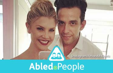 Abled.People: Instagram selfie of Broadway actor Nick Cordero and his wife, fitness instructor Amanda Kloots.