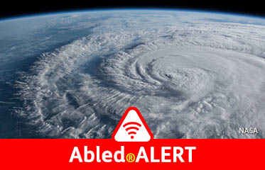 Abled.ALERT: Weather: Photo from space of the spiral cloud formation of Tropical Storm Cristobal.