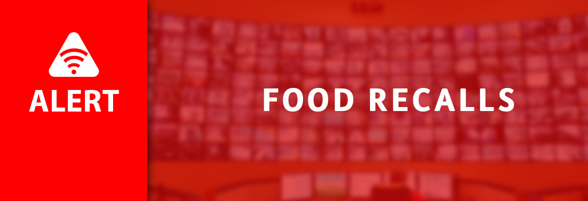 Abled.ALERT: Recalls. Food Recalls banner.