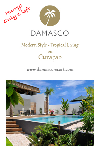 AbedSupporters - Damasco Resort -shows a photo of the last Villa with swimming pool available on the Caribbean island of Curaçao