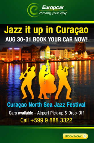 AbledSupporters - Europcar Curaçao showing a promotion for the Curaçao North Sea Jazz Festival. CLick the image to visit Europcar-Curacao.com