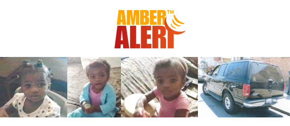 AbledKids Amber Alert graphic panel shows photos of Daphne Webb  and her father's SUV that she was abducted from.