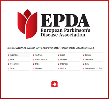Abled Public Service Ad link to the European Parkinson's Disease Association and shows links from their site to other International Parkinson's and Movement Disorders websites.