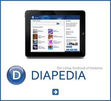 Abled Public Service Ad link to Diapedia - the Living text Book of Diabetes.