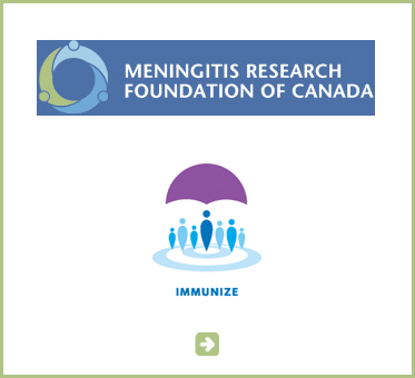 Abled Public Service Ad for the Meningitis Research Foundation of Canada. The ad features the new universal immunization symbol consisting of illustrations of people that can be abstractly interpreted as immunization needles over subtle blue colored target rings. The abstract human shape in the middle is the tallest and is under a purple colored abstract umbrella with the word immunize in capital letters underneath. Click here to go to their website.