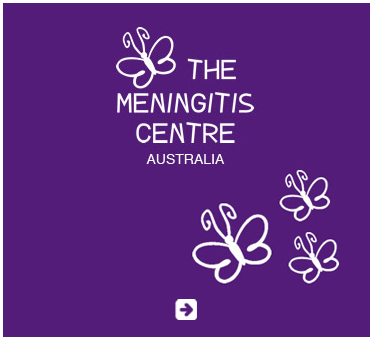 Abled Public Service Ad for The Meningitis Centre Australia which shows white hand drawn white letters and butterflies over a purple background. Click here to go to their website.
