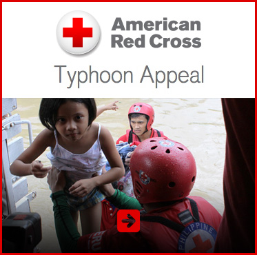 Abled Public Service Ad for The American Red Cross Typhoon Relief Appeal. Click here to make a donation.