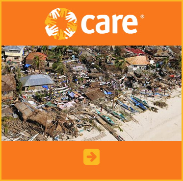Abled Public Service Ad for CARE Typhoon relief. Click here to make a donation.