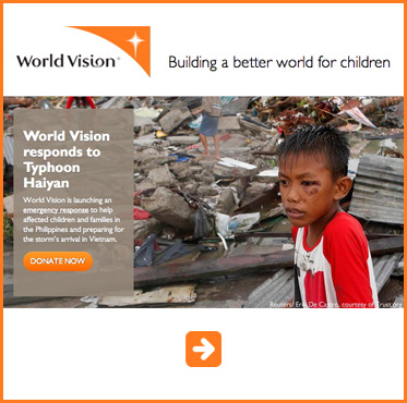 Abled Public Service Ad for World Vision Typhoon Haiyan relief. Click here to make a donation.