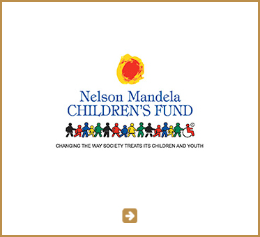 Abled Public Service link to the Nelson Mandela Children's Fund.  A stylized red/orange sun is above the name of the Fund while an illustration of children standing side by side holding handsin vibrant colors of red, blue, black yellow and green, including a child in a wheelchair placed above the sub-text: Changing the way society treats its children and youth. Click here to go to the website.
