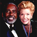 AbledWarriors photo shows philanthropist Lois Pope with Former U.S. Secretary of Veterans Affairs, the late Jesse Brown.